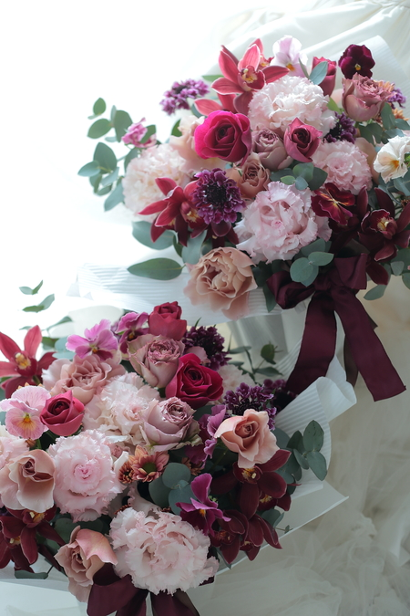 披露宴最後にご両親への花 帝国ホテル様へ _a0042928_23154556.jpg