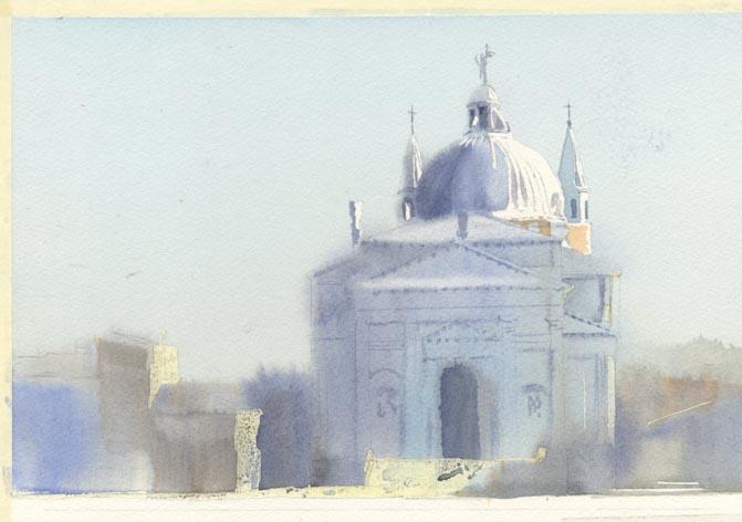 教会 水彩画_f0176370_1534409.jpg