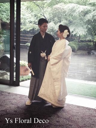 和装2種にあわせるヘッドドレス 椿山荘さんへ_b0113510_1934922.jpg