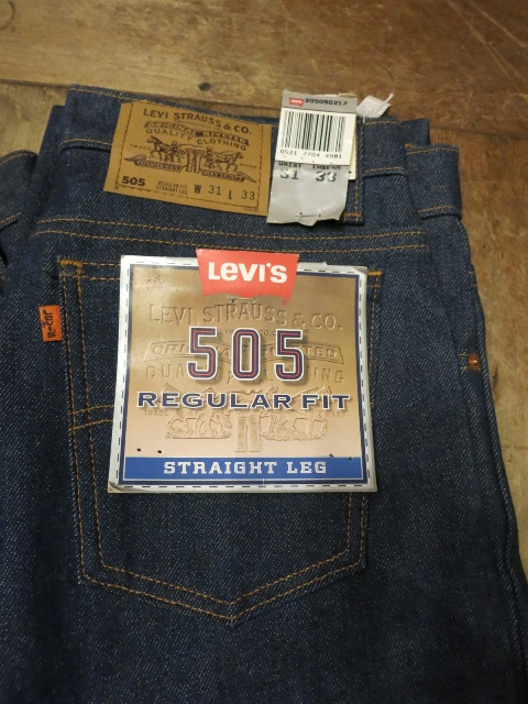 1/24(土)入荷!デッドストック MADE IN THE U.S.A Levi\'s 505 80'S~_c0144020_1471551.jpg