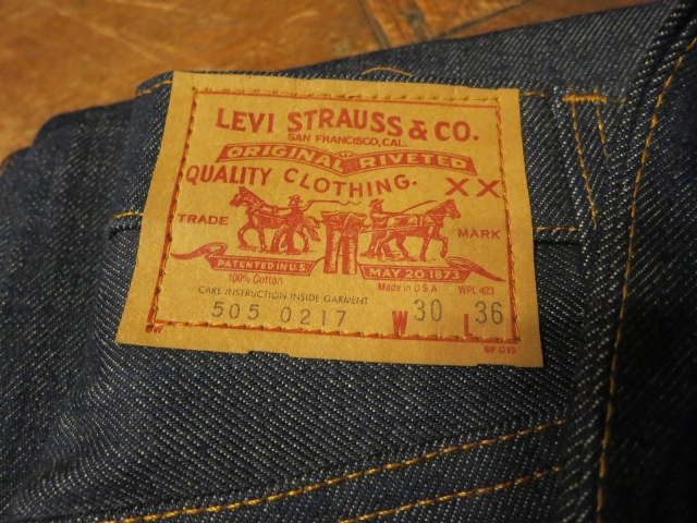 1/24(土)入荷!デッドストック MADE IN THE U.S.A Levi\'s 505 80'S~_c0144020_147496.jpg