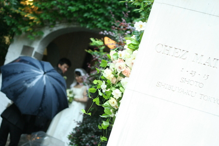 花に囲まれてランチを シェ松尾松濤レストランでの一会生徒さん作品展のお知らせ_a0042928_1948528.jpg