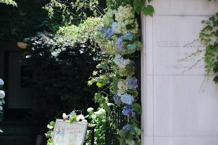 花に囲まれてランチを シェ松尾松濤レストランでの一会生徒さん作品展のお知らせ_a0042928_2063832.jpg