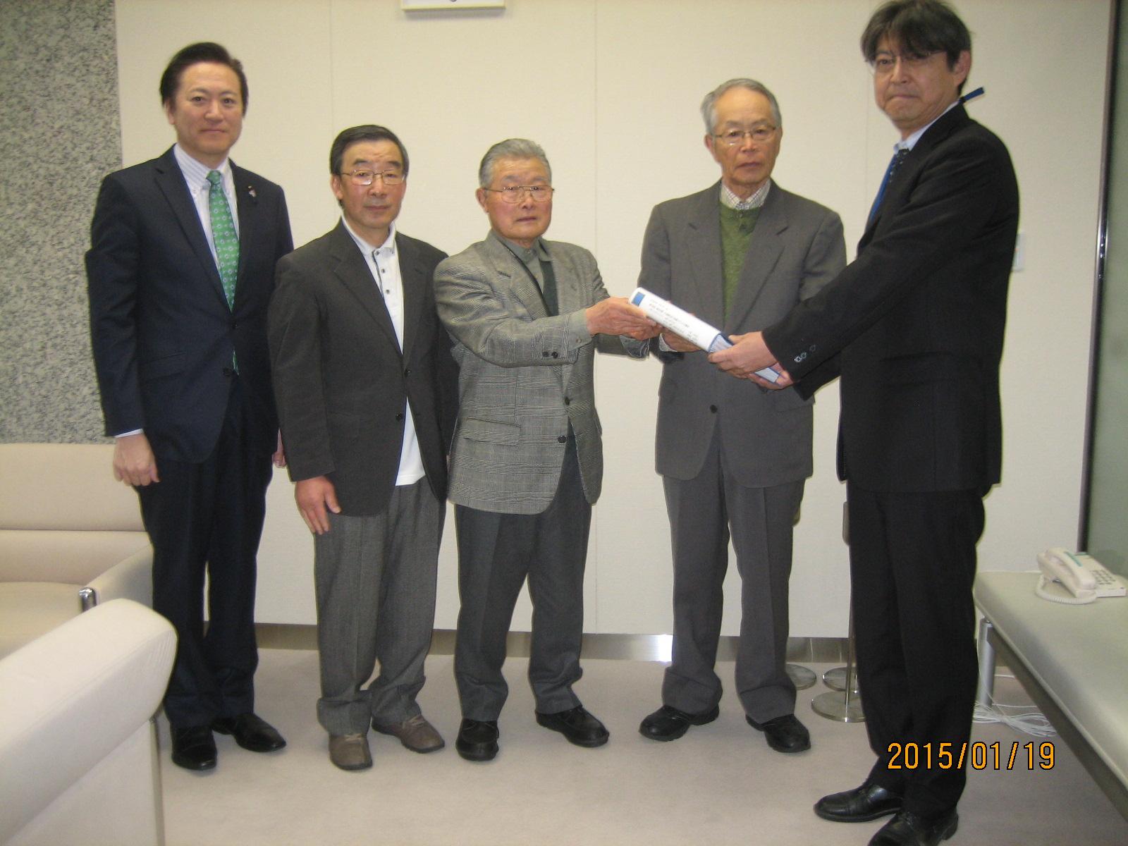 知事あての署名を東京都建設局河川部に提出しました!_a0258102_21351987.jpg