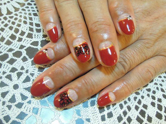 Red Rose Nail_a0239065_13413023.jpg