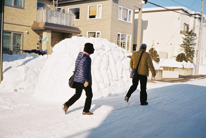 正しい雪上歩行と雪の山_c0182775_17222062.jpg