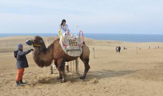 ラクダに乗ってもらったり.....砂丘をバックに...._b0194185_22473283.jpg