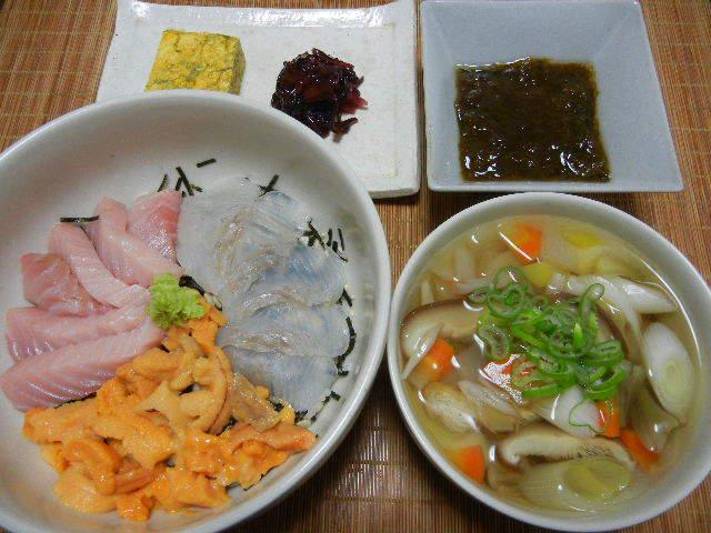 三色丼_e0028505_23253725.jpg