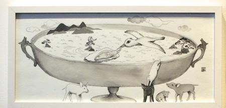 河原シンスケくん展 スープの日。@AL_f0164187_7421481.jpg