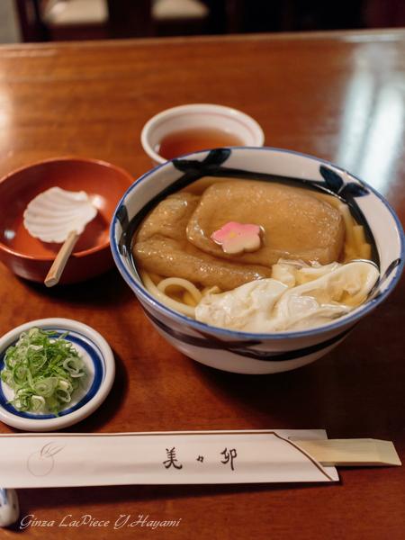 京橋ディナー 美々卯 きつねうどん 卵落し_b0133053_1345354.jpg