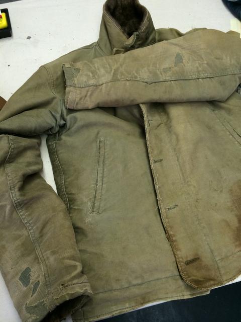 USN N-1 デッキジャケット破損リペア_d0210561_7525958.jpg