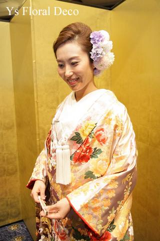 色打掛に生花のヘッドドレスを_b0113510_17553586.jpg