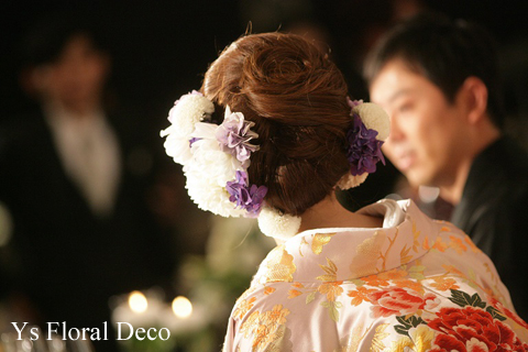 色打掛に生花のヘッドドレスを_b0113510_17554887.jpg
