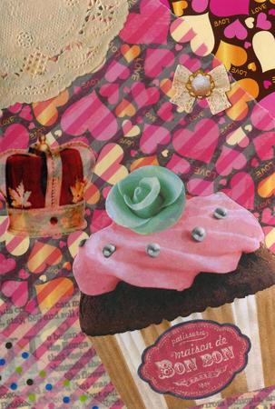 バレンタインコラージュカード こまちノお母さん、むにゅさんへ_a0275527_00302686.jpg