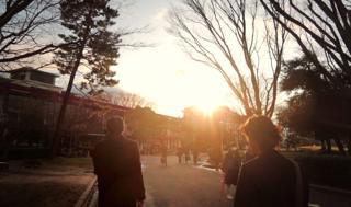 キャンパスの移動は歩きが中心.....私も二日間いい運動を..._b0194185_23123383.jpg