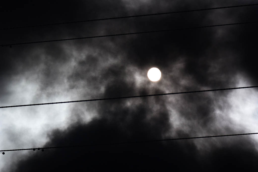 火災/積雪と鳥達(イカル、ジョウビタキ雌、ダイサギ)/シロハラ/太陽面/月とラブジョイ彗星_b0024798_15453215.jpg