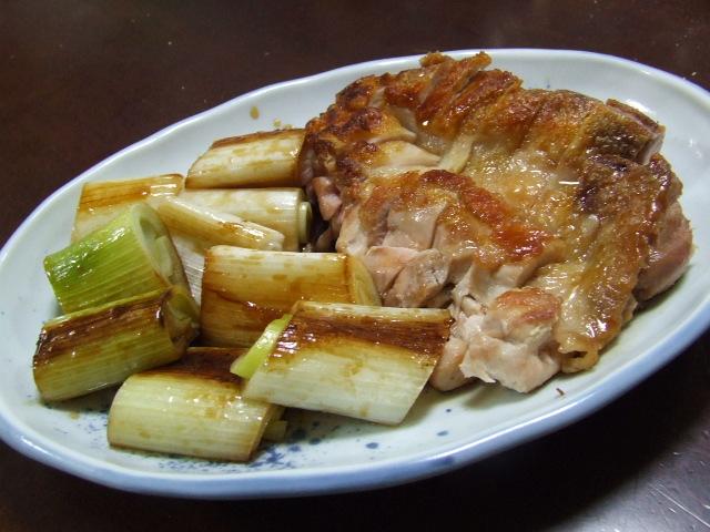 鶏もも肉とねぎの照り焼き_f0019498_16585386.jpg