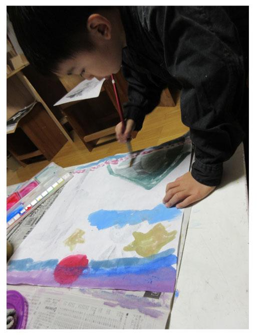 紙版画・幼児クラス(上高野・比良)_f0211514_19335411.jpg