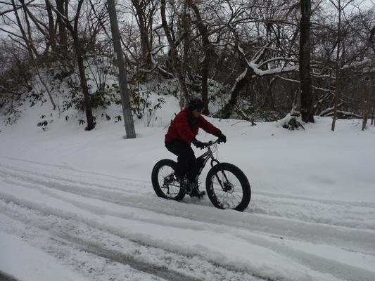 ファットバイクで雪遊び 2015年2月_c0132901_17562812.jpg