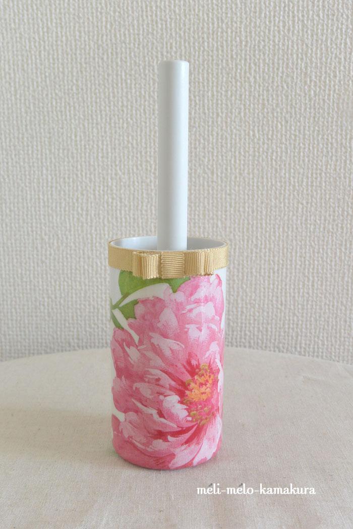 ◆デコパージュ*華やかなお花のミニコロコロ_f0251032_23553586.jpg
