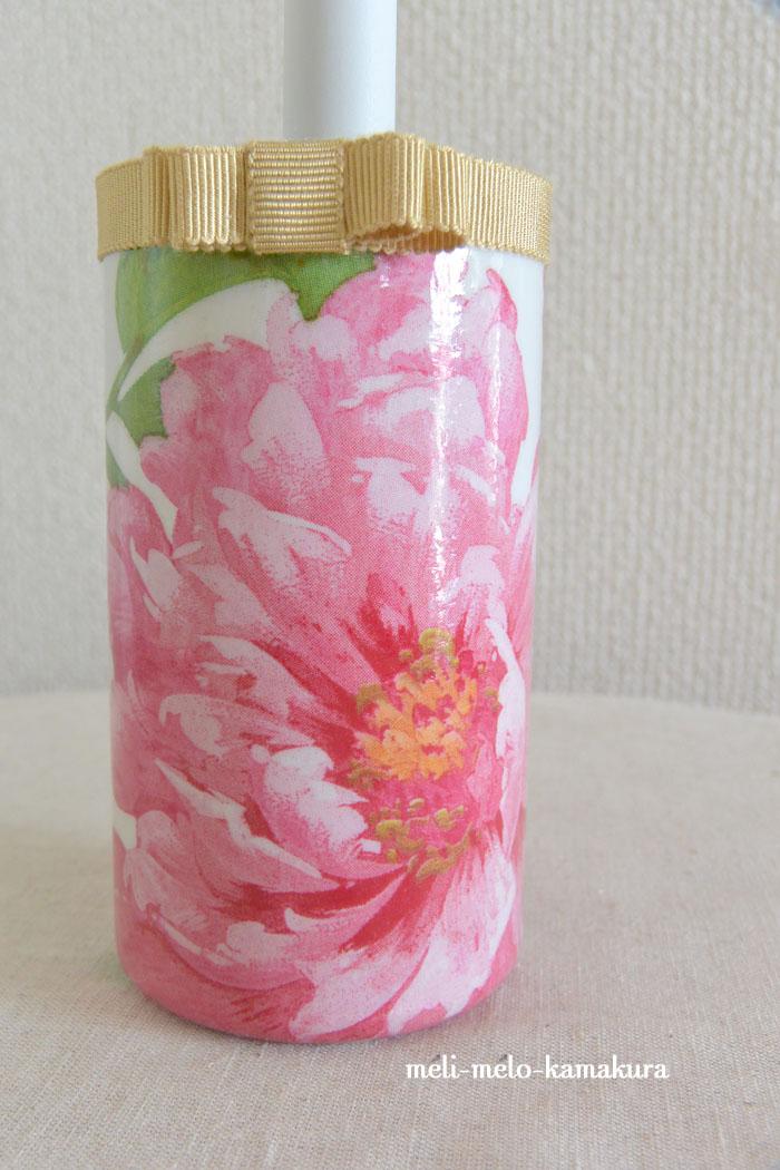 ◆デコパージュ*華やかなお花のミニコロコロ_f0251032_2356187.jpg