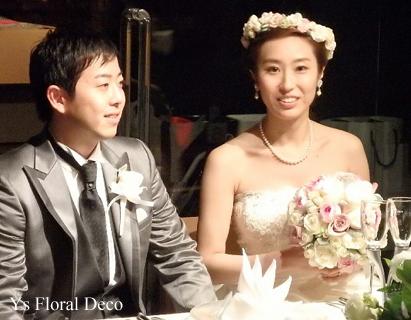 二次会の花冠 白とピンクとシャンパン色_b0113510_201152.jpg