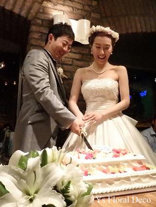 二次会の花冠 白とピンクとシャンパン色_b0113510_2012445.jpg