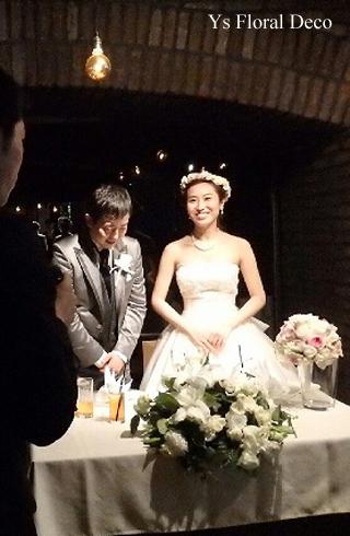 二次会の花冠 白とピンクとシャンパン色_b0113510_201306.jpg