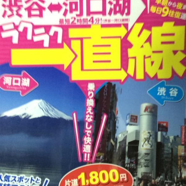 河口湖(富士急ハイランド)~渋谷のバスのお話!_c0097116_19214344.jpg