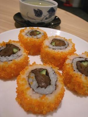 成田空港でまいどのお茶漬け&ラウンジのお寿司。_d0098022_20292516.jpg