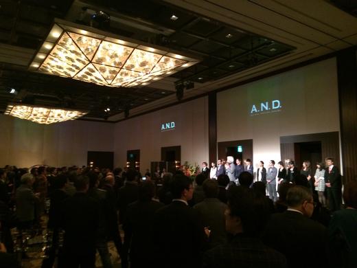 A.N.D.のデザインアワード受賞を祝う会@マンダリンオリエンタルホテル_f0164187_072811.jpg