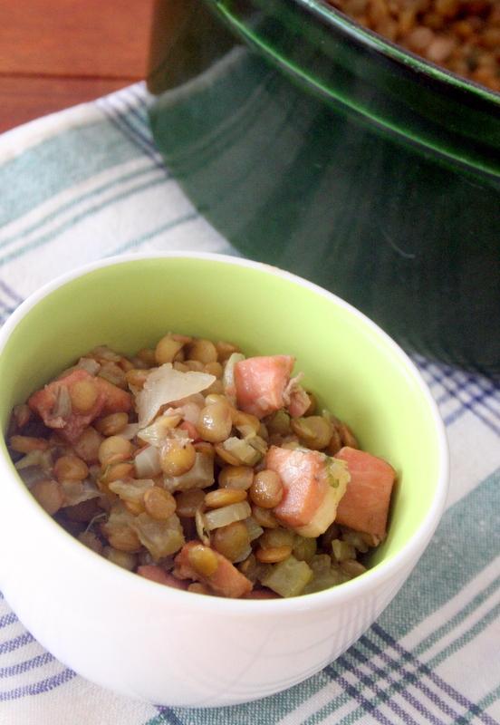栄養満点!! レンズ豆とベーコンの煮込み_f0141419_05065654.jpg
