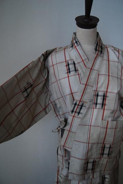 着物リメイク・紬で作った作務衣_d0127925_10482486.jpg