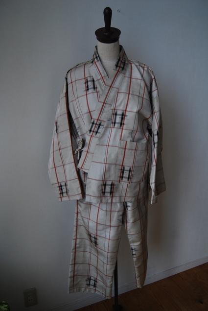 着物リメイク・紬で作った作務衣_d0127925_10484353.jpg