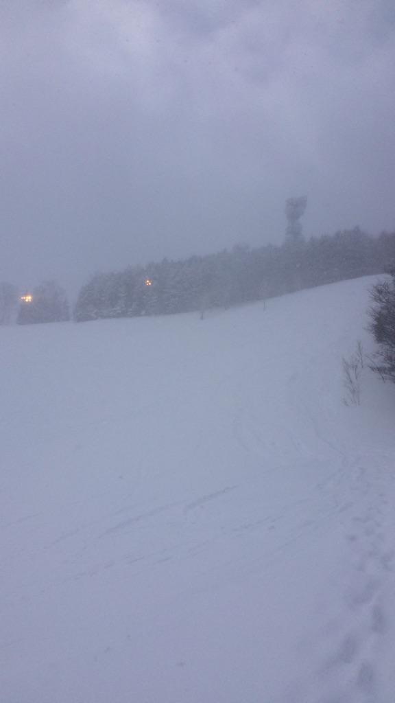 暴風雪の中でのスノートレイルin藻岩山_d0198793_14385930.jpg