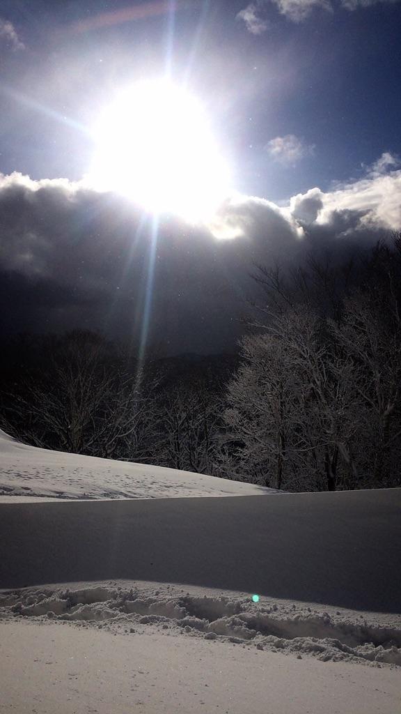 暴風雪の中でのスノートレイルin藻岩山_d0198793_14592946.jpg