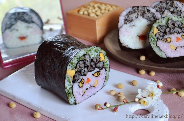 節分の恵方巻   Homemade Fortune Sushi Roll of Sethubun_d0025294_19422639.jpg