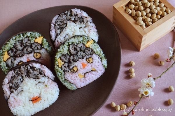 節分の恵方巻   Homemade Fortune Sushi Roll of Sethubun_d0025294_1942361.jpg