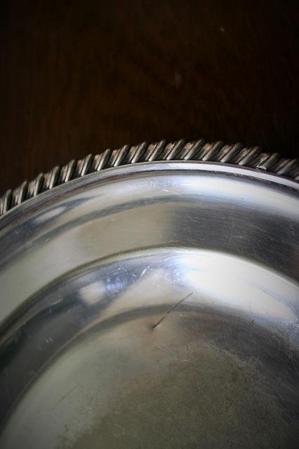 英国製シルバープレート楕円プレート39 値下げ_f0112550_05412206.jpg