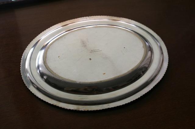英国製シルバープレート楕円プレート39 値下げ_f0112550_05412225.jpg