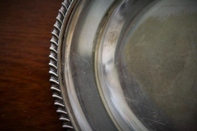 英国製シルバープレート楕円プレート39 値下げ_f0112550_05412243.jpg