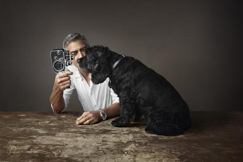 ジョージ・クルーニーと愛犬の広告ビジュアルをオメガが発表_f0039351_17502387.jpg
