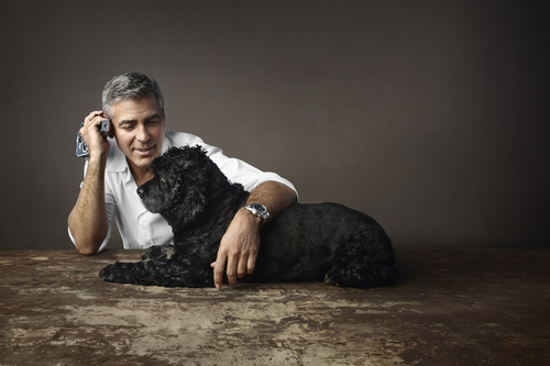 ジョージ・クルーニーと愛犬の広告ビジュアルをオメガが発表_f0039351_17504123.jpg
