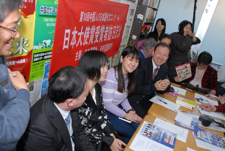日本大使賞受賞者来日、表敬訪問忙しく、時間順の写真で報告_d0027795_823729.jpg