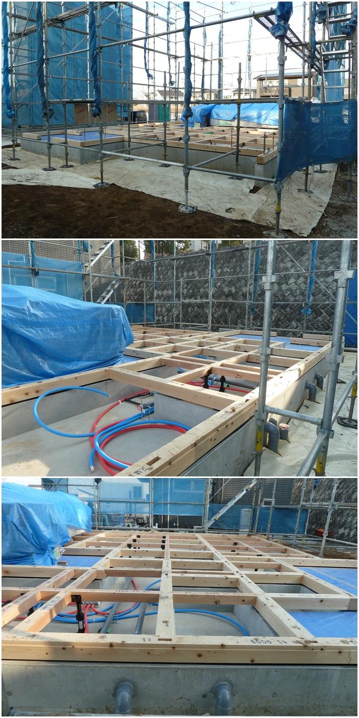 綾瀬市の家☆土台敷き終了しました_c0152341_1281747.jpg