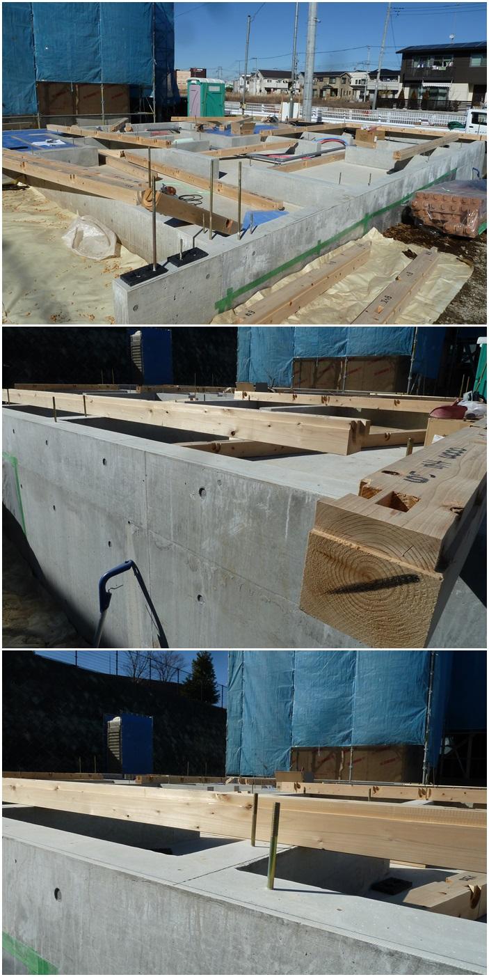 綾瀬市の家☆土台敷き終了しました_c0152341_128467.jpg