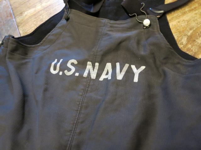 2/7(土)入荷!40'S U.S NAVY デッキ オーバーオール パンツ_c0144020_14215740.jpg