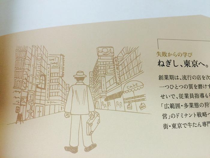 株式会社ねぎしフードサービス会社案内 「ねぎしの歩み」のイラストを描きました。_f0134538_9211684.jpg
