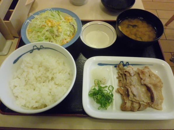 松屋の豚バラ焼肉定食    箕面店_c0118393_17501510.jpg