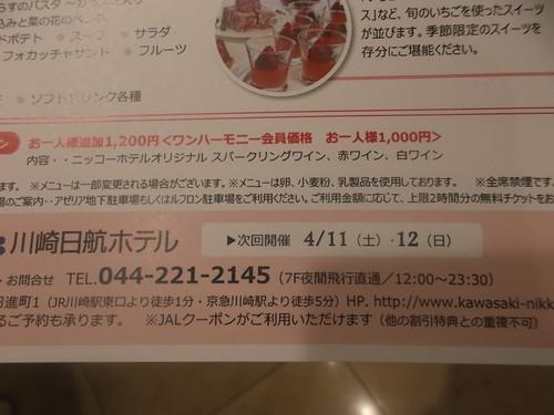 川崎日航ホテル 夜間飛行 バレンタインスイーツブッフェ_f0076001_20493873.jpg